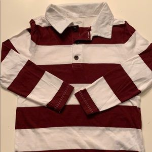 New Boys long sleeve polo 5t
